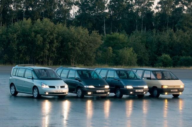 Les 4 générations de Renault Espace