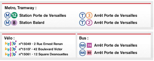 Métro, Tramway, Vélo, bus