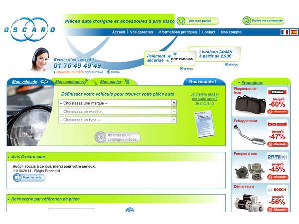 www.oscaro.com leader de la pièce détachée sur internet