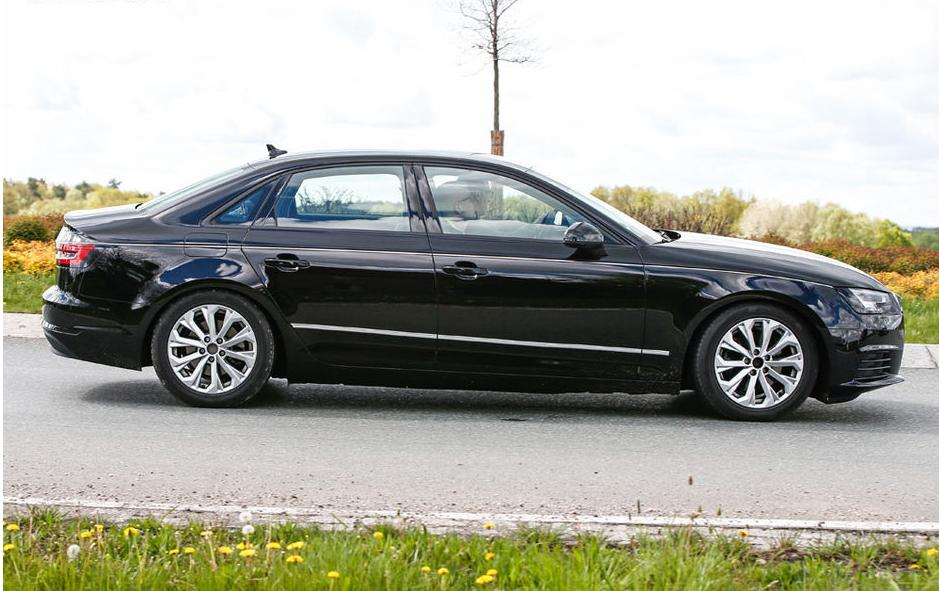 spyshot l 39 audi a4 sedan et avant 2016 sans camouflage. Black Bedroom Furniture Sets. Home Design Ideas