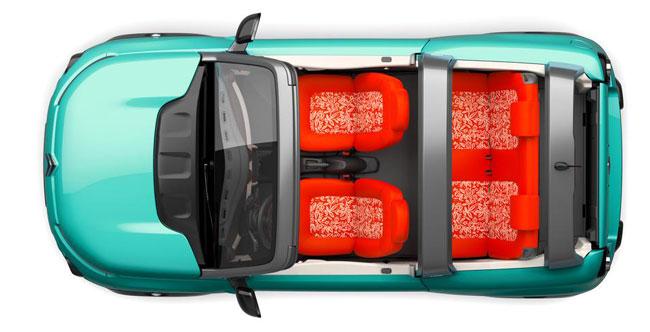 Citroën E-Méhari vue de dessus