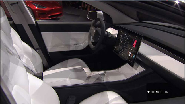 Tesla Model 3 intérieur