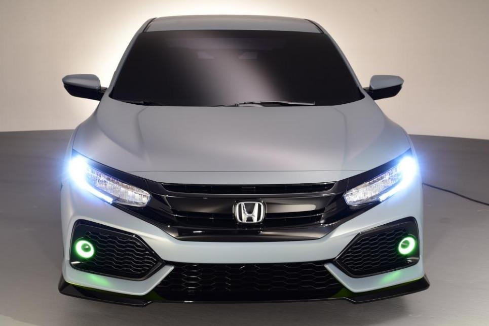 Face avant de la Honda Civic Hatchback 2017