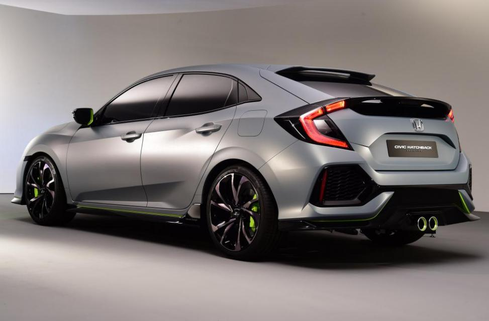 Honda Civic Hatchback 2017 grise