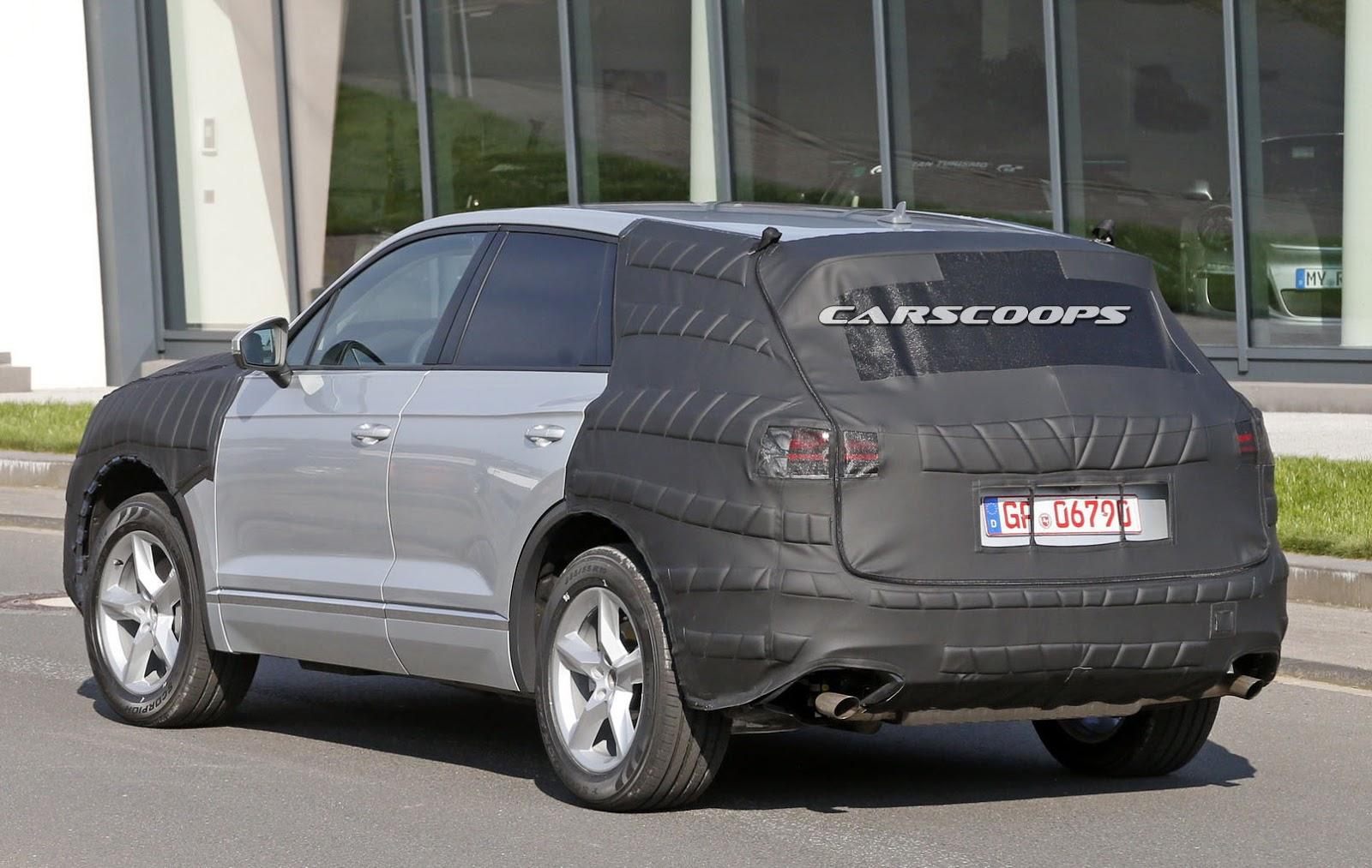 Face arrière du Volkswagen Touareg 2017