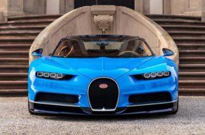 Face avant de la Bugatti Chiron