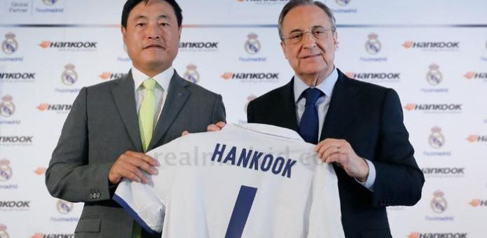 hankook devient le sponsor officiel du real madrid