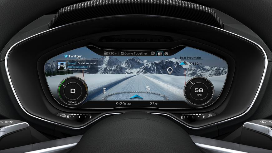 Le Virtual Cockpit mis au point par Audi